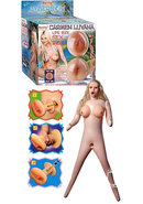 Adam And Eve Carmen Luvana Cyberskin Inflatable Sex Doll...