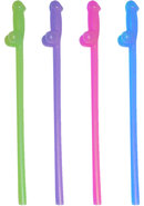 Naughty Straws Glow In The Dark Assorted Colors 8 Each Per...
