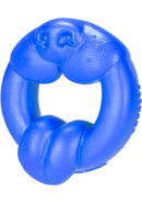 Oxballs Scrappy Puppy Silicone Cockring Police Blue