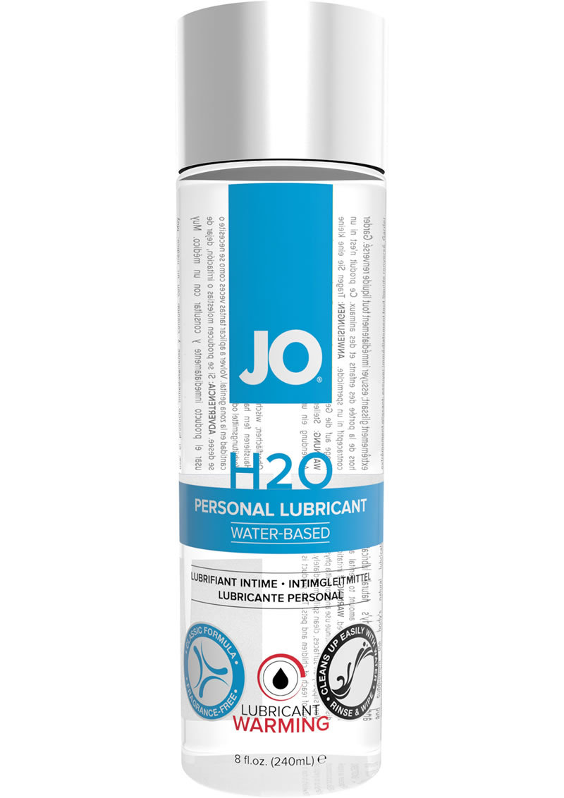 Jo H2o Warming Water Based Lubricant 8 Ounce