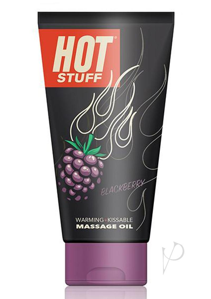 Hot Stuff Warming Kissable Massage Oil Water Based Blackberry 6 Ounce