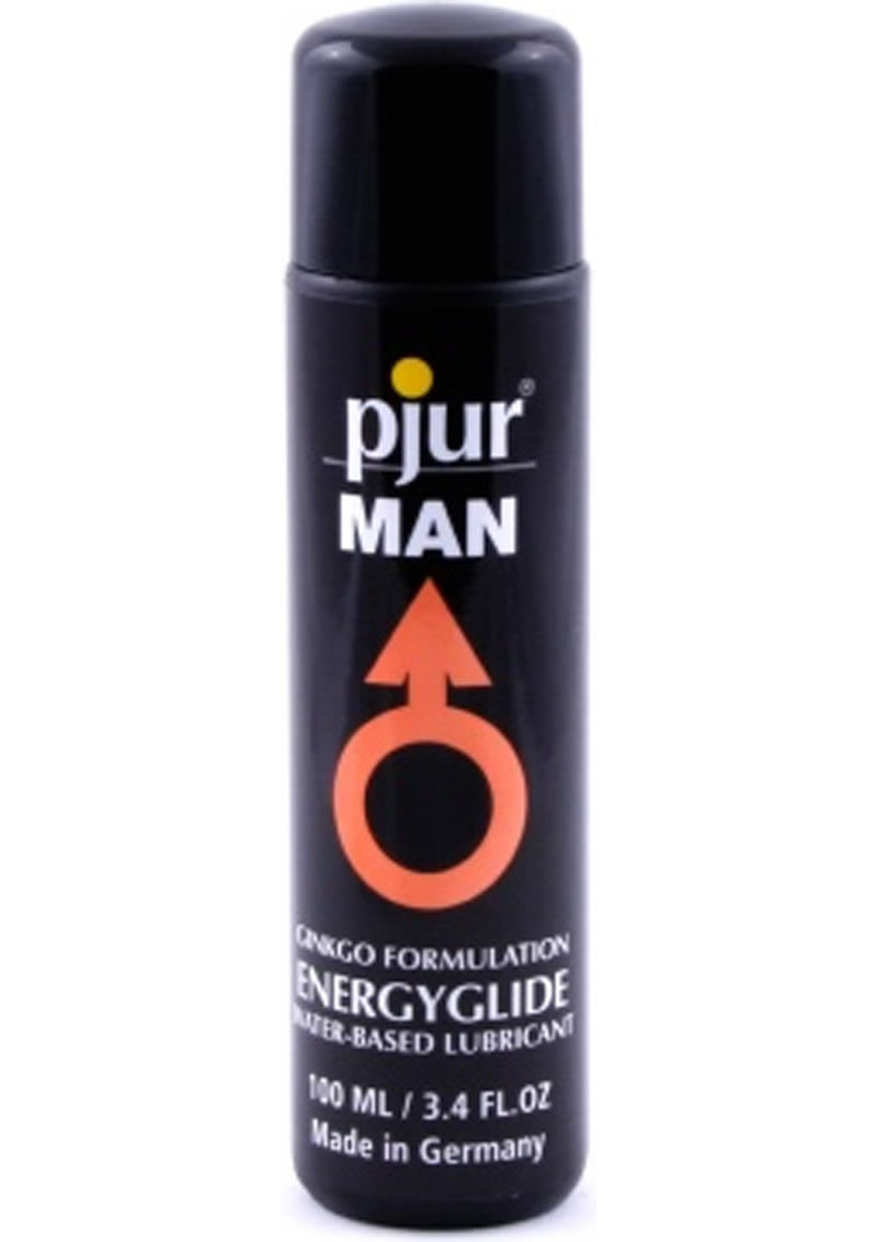 Pjur Man Ginkgo Fomulation Energy Glide Waterbased Lubricant 3.4 Ounce