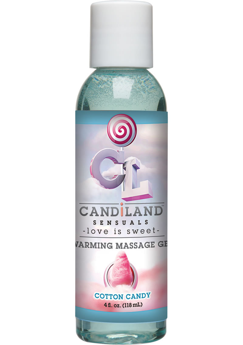 Candiland Sensuals Flavored Warming Massage Gel Cotton Candy 4 Ounce